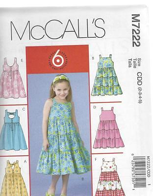 5a5c3fb71 MCCALL S SEWING PATTERN AVERAGE GIRLS DRESSES AND DOLL DRESS SIZE 2 ...