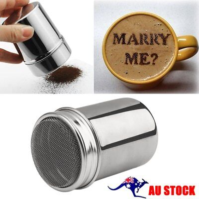 Stainless Steel Chocolate Cocoa Flour Shaker Icing Sugar Powder Coffee Duster Q&