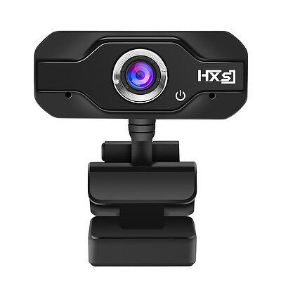 HXSJ HD Megapixels USB2.0 Webcam Camera with MIC Clip-on for Computer PC Laptop