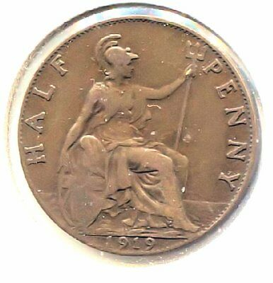Great Britain 1919 Half Penny Coin - United Kingdom England King George V