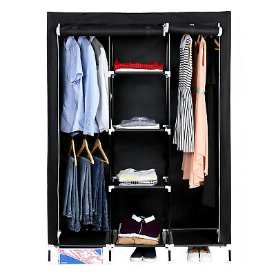 camping falt schrank vlies stoff kleider garderobe stau f cher rei verschluss eur 19 90. Black Bedroom Furniture Sets. Home Design Ideas
