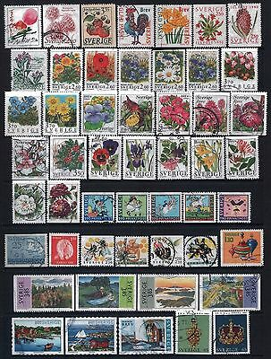 SWEDEN - Mixed lot of 51 Stamps, most Good - Fine Used, LH