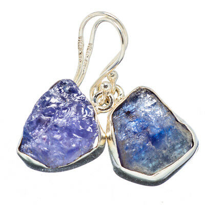 "Tanzanite 925 Sterling Silver Earrings 1 1/4"" Ana Co Jewelry E352881F"