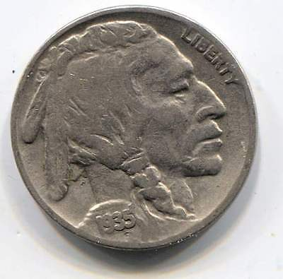US 1935 Indian Buffalo Nickel - American Five Cent Coin - Philadelphia Mint
