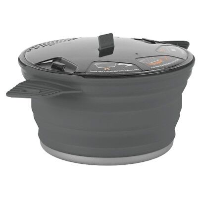 sea to summit X-Pot 2.8 Liter grey Kochtopf Faltgeschirr Campingtopf Outdoortopf