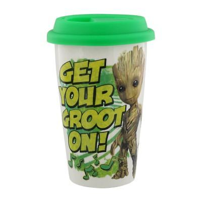 Official Marvel Guardians of the Galaxy Get Your Groot On Travel Coffee Mug