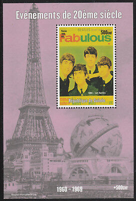 Guinea 6123-  1998 EVENTS OF 20th CENTURY  THE BEATLES  perf m/sheet u/m