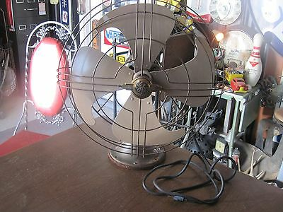 VTG GE General Electric Rotating Oscillating 3 Speed 4 Blade Fan Industrial
