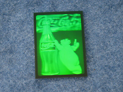 1995 Coca Cola Polar Bear and Coke Bottle Hologram from Collect-A-Card E1581