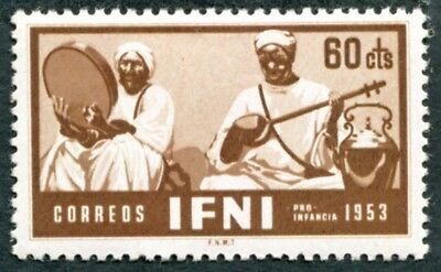IFNI 1953 60c brown SG96 mint MNH FG Child Welfare Two native musicians #W48