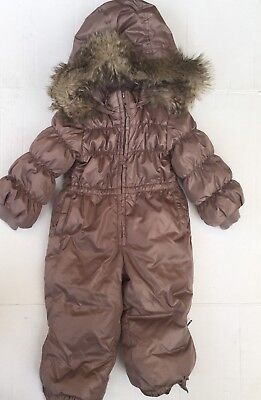 4bfddde9b BABY GAP WINTER Toddler Girl Warmest Snow Suit 2 2T -  39.99