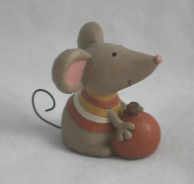 Blossom Bucket Autumn Figurine Mouse with Pumpkin NEW
