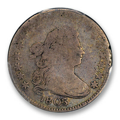 1803 10C Draped Bust Dime PCGS G-4 CAC Approved Good Looks Better