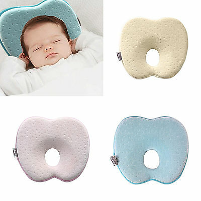 Support Prevent Anti Roll Baby Infant Memory Foam Pillow Flat Head Neck Newborn