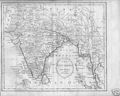 "East Indies "" From Best Authorities "" George 111 Map"
