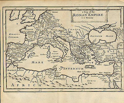 1719 map of the roman empire in its maturity . from a publication