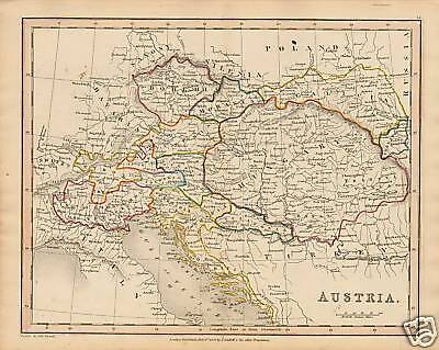 "1840 Map "" Austria    "" Published  T.cadell"