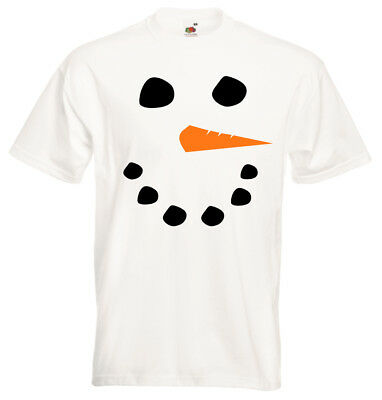 Snowman Face Christmas Xmas Mens Womens Kids Childrens Funny Party T-Shirt New