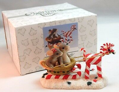 Charming Tails Fitz & Floyd SLEIGH RIDE SWEETIES Figurine #87/100 - In Orig Box