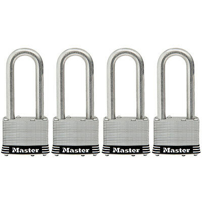 Master Lock 4-Pack 1.785-in Laminated Stainless Steel Shackle Keyed Model#1SSQLF