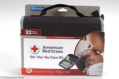 Red Cross On The Go Baby Care Kit 32 Piece Health Set w/ Case New w/Tags  4768