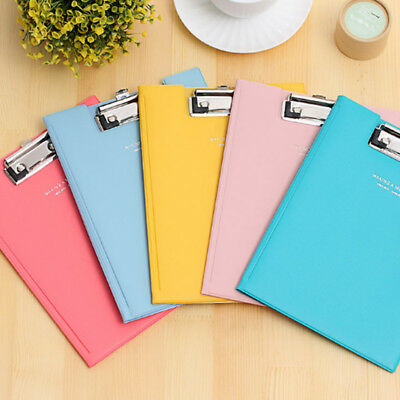 PU Leather A5 Paper Meeting Conference Writting Signature File Folder Clipboard