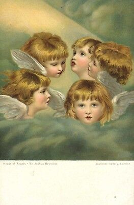 heads of angels ! sir joshua reynolds .unused condition !