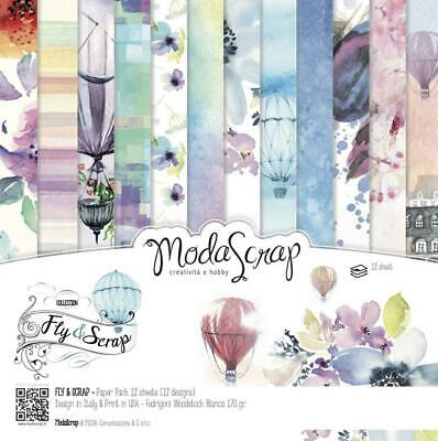 Elizabeth Craft Designs Modascrap 6x6 Inch Paper Pad Fly & Scrap