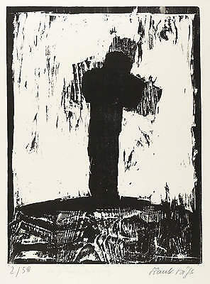 Frank Voigt - to Trakl - Untergang - Woodcut 1981