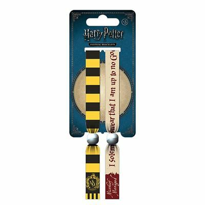 Official Harry Potter Hufflepuff Festival Wristband Set - Fabric Bracelets