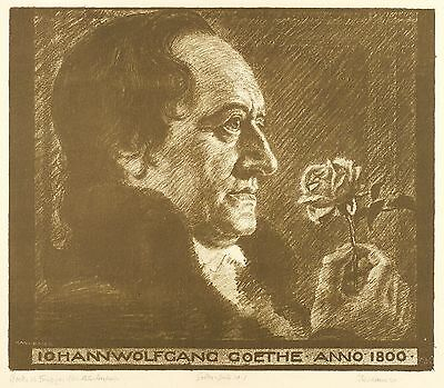 Goethe as Naturalist - Karl Builder - Lithography 1905