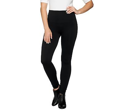 Spanx Look Me Now Seamless Trendy Wide Waist Leggings Very Black 1X NEW A288131