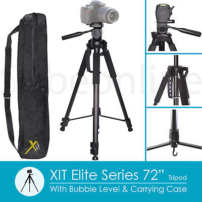 "72"" Aluminum Tripod For Canon EOS Rebel 80D 70D T7i T6i T6s T6 T5 T3 DSLR Camera"