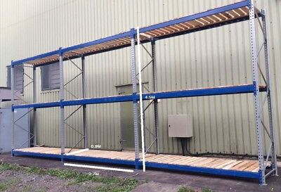5 Bays BITO Warehouse Pallet Racking 4.5M Tall x 2.7M Bays with Decks
