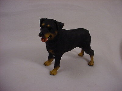 ROTTWEILER Dog HAND PAINTED FIGURINE Statue Collectible Puppy NEW resin ROTTIE