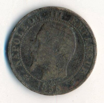 1856 France Cinq 5 Centimes Coin Francais French NAPOLEON FREE S&H!