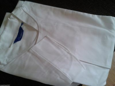 CHEAP WHITE CHEFS JACKET LONG SLEEVE CHEF WHITES without studs FREEPOST