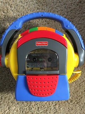 Fisher-Price 1999 TUFF STUFF Cassette Tape Player Recorder Karaoke w/ Microphone