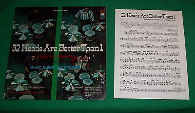 1970 Music Minus One 32 Head Better Than 1 Record Album Drumming Suite Solo Drum