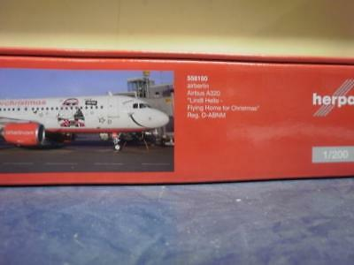 Herpa Wings 1:200 Airbus A 320 Air Berlin Lindt Hello Flying Home for Christmas