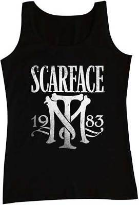 Scarface Tony Montana TM Initials 1983 Adult Tank Top Great Classic Movie