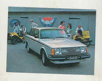 1979 Volvo 242GT Factory Postcard mx8885