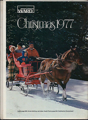 "Hard Cover 1977 MONTGOMERY WARD CHRISTMAS Catalog for ""77 WARDS"