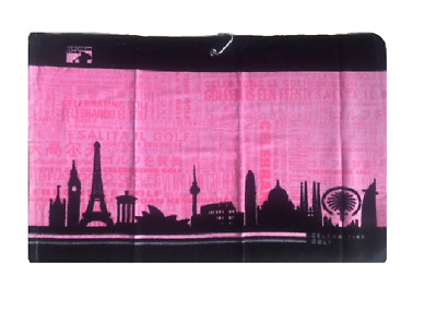 European Tour Limited Edition Pink Golf Towel Celebrating Golf Bag/Players Towel