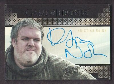 2017 Game of Thrones Valyrian Steel Autograph Kristian Nairn as Hodor