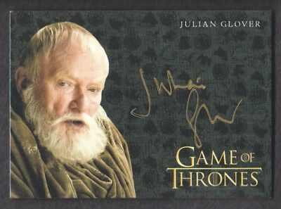 2017 Game of Thrones Valyrian Steel Gold Autograph Julian Glover as Pycelle