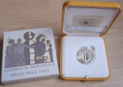 Vatican 5 Euro 2009 World Peace Day Silver