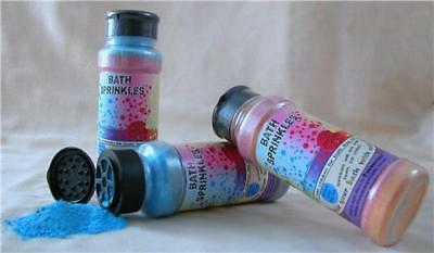 Bath Sprinkles - fizz & change the bath water colour, smells nice too