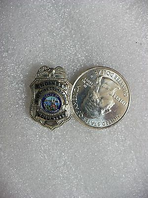 Zlb- Riverside County Fire Engineer Volunteer Mini Badge Pin  (#16144) (Z100)