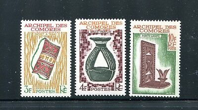 Comoros 57-59, 1963 Pouch, Censer, Lamp, Mnh (Id6819)